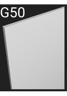 Taustalevy Aster G50. Peitelevy mittojen mukaan.