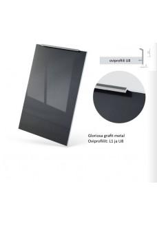 Gloriosa Lux korkeakiilto ovi UL8 - integroitu vedin, ruostumaton teräs