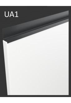 Gloriosa kiiltävä kalvo-ovi UA1 - integroitu antrasiitti vedin