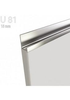 Gloriosa kiiltävä kalvo-ovi U81 - integroitu ruostumaton teräsprofiili