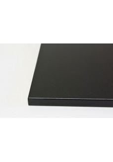 Matta pintainen musta pöytälevy. Mittojen mukaan.
