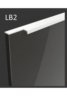 Gloriosa lux korkeakiilto ovi LB2 - integroitu valkoinen vedin