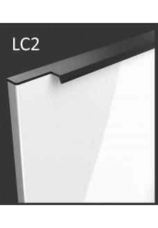 Gloriosa lux korkeakiilto ovi LC2 - integroitu musta vedin