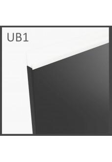 Gloriosa kiiltävä kalvo-ovi UB1 - integroitu valkoinen profiilivedin